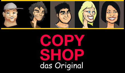 Das Copy Shop Team (interaktive Bildteile)